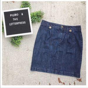 Pilcro and the Letterpress Denim Pencil Skirt